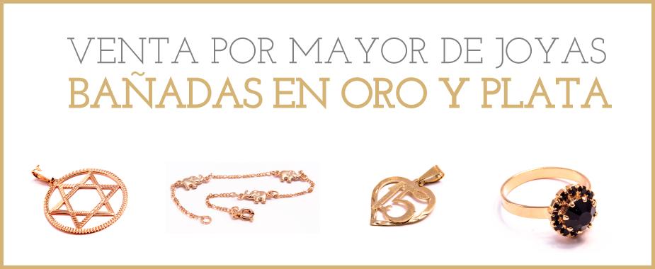 281fa3934daa Venta por Mayor de Joyas Bañadas en Oro y Plata